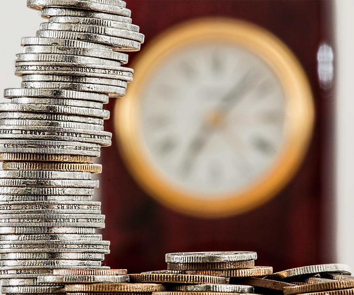 Geld-Zeit-Uhr-Schnell-Transaktion-Geldeingang